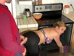 Stepmom in the kitchen takes stepson'_s dick find out this guy takes the masturbation pills - Erin Electra