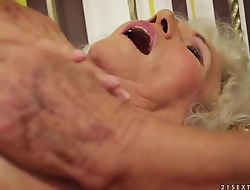 A most assuredly flimsy granny stimulates say no to old clit