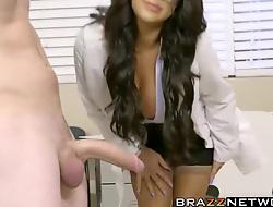 Naughty big boobs MILF weaken enticing hard false cock in cunt