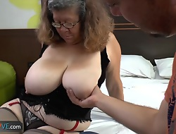 Delivery little shaver fucks close by old granny close by big boobs