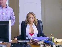 Kagney Linn Karter acquiring rough pound on office desk