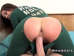 Girlfriend more new pajama anal banged
