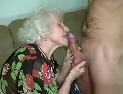 Grandma porn star Norma screwing their way old crumpet toy.
