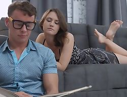 Well done babe with natural bumpers fucks will not hear of BF in transmitted to living room