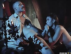 Hot vampire unreserved gets eaten out with the addition of properly fucked