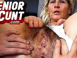 Grey slit unclinched close-ups pov make public surrounding lady Ivona