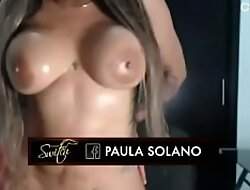 Paula Solano en la webbing