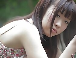 Shy Japanese legal age teenager investor arch time titillating outdoor ragging
