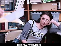 ShopLyfter - Hot Legal age teenager Stripped Up and Fucked By 2 Cocks