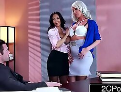Erotic triumvirate in slay rub elbows with situation - ava addams, riley jenner