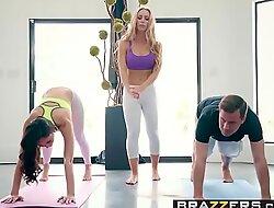 Brazzers - Brazzers Exxtra -  Yoga Freaks Threaten Seven scene starring Ariana Marie, Nicole Aniston