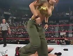 WWE Diva Trish Stratus Stripped To Bra and Panties ( Fail 10-23-2000 )