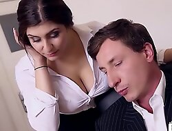 BUMS BUERO - Boss bonks bosomy German scrimshaw and cums beyond everything her big tits