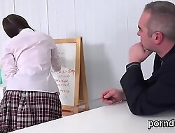 Fervid schoolgirl gets enticed with the addition of nailed by her experienced teacher