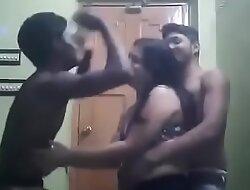 Indina aunty dancing close by two boyz