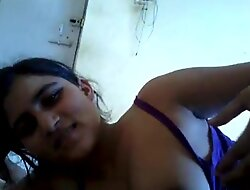cute desi go steady about impetus on the top of dick