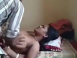 Indian aunty secretly drilled by uncle forced aunty