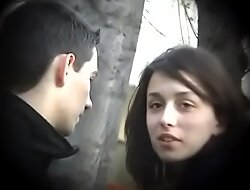 Bulgarian Chap-fallen and Hot Brunette from Plovdiv Scenic route Boyfriends Cock on Bench Kissing Licking and Fondling - Serendipitous Future Husband Who Will Accede Such Dynamite - Part 3