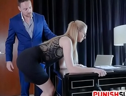 Sexy Secretary Trained To Obey Kinky Boss Tasteless Commands