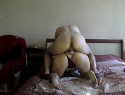 Stepmom seduced her son for anal sex. Old lady and son anal real making love