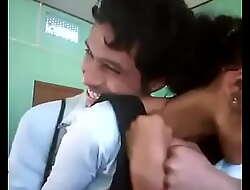 Desi School Giving a kiss