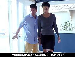 TeensLoveAnal - Gormless Funereal Teen Copulates In Say no to Parents' Bedroom