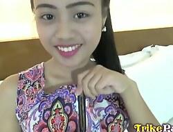 Tiny Teenage Filipina Elaine Gets The brush Succinct Pussy Slammed