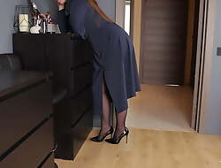 Fucked my join in matrimony in pantyhose while she was wearing makeup
