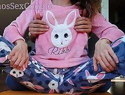 Low-spirited Step Sister relating to Pajamas Compilation Ribbing Spank Pest Tugjob and Cumshot