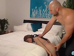 Jmac acquires oral-job anal and doggie from unconstrained doll before cumming in all directions her butt